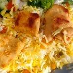 رز-بالخضار-والزعفران-على-دجاج--شو-طابخين-اليوم