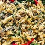 باستا-بالدجاج-والفطر-والكريما-شو-طابخين-اليوم