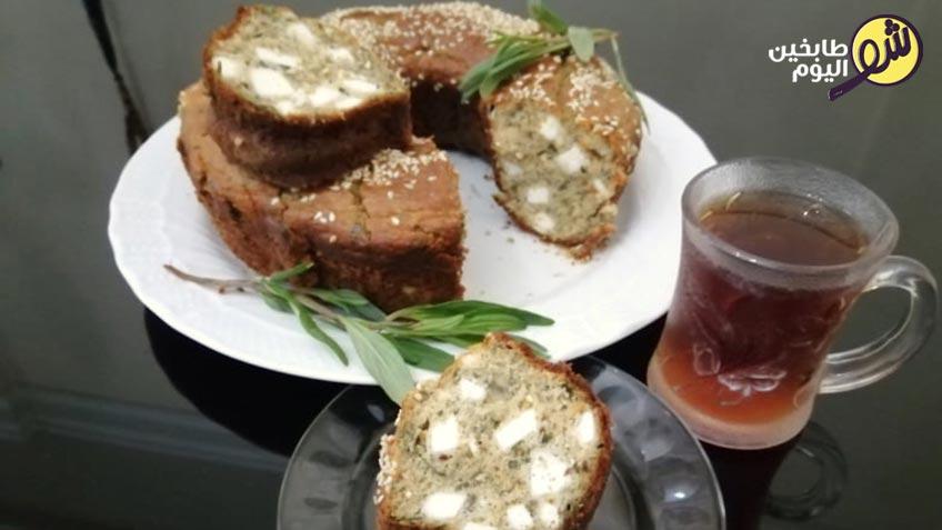 كيك-مالح-بالجبنة-والزعتر-2-شو طابخين اليوم