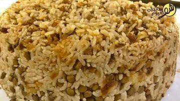 مجدرة-العدس-والرز-شو-طابخين-اليوم