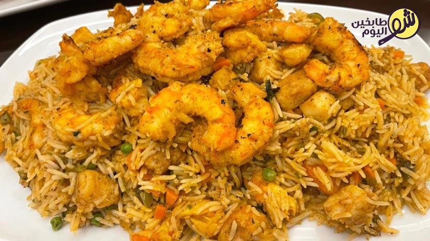 الأرز-بالخضار-والقريدس-شو-طابخين-اليوم